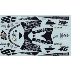 Honda NSNR500  1:12th Decal set - 2001 Test Bike - Rossi