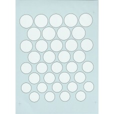 Roundels 1:24th scale - White (black edge)