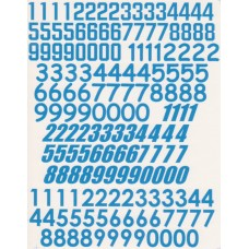 Race Number Decals 1:24th scale - Blue