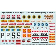 General Sponsor and Marking Decals - 1000km Nurburgring Part 1