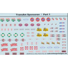 General sponsor and marking decals Le Mans 1:24th - Transam Sponsors Part 2