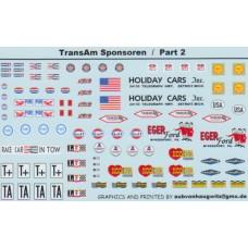 General Sponsor and marking decals 1:24th - Transam sponsor Part 1