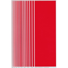 BVH Red Stripe Decal Sheet