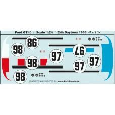 Ford GT40 - 24h Daytona 1966 - Part 1