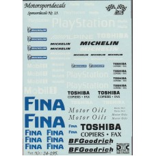 General Sponsor Decal Sheet 1:24th scale