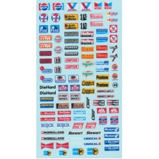"American ""NASCAR"" Sponsor  Decal Sheet"