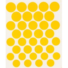 Numbers - Yellow 1:24th scale decal roundals