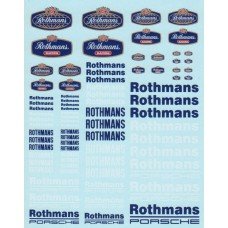 DMC Rothmans Sponsor Decal Set
