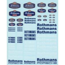 DMC Rothmans Sponsor Decal Set