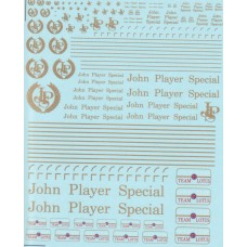 DMC John Player Special and Gold Leaf Decal Set