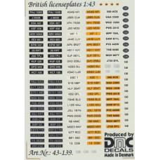 British Number Plates