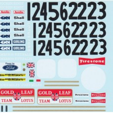 MSM Creation Decals for the Ebbro Lotus 72C (1970)
