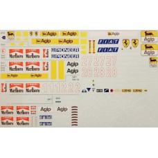 MSM Creation 1:20th Ferrari 640-643 Decal Set
