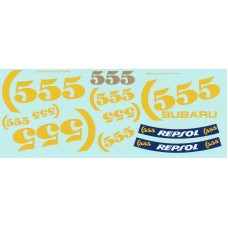 "MSM Creation supplementary ""555"" decal set for the 1:24th scale Subaru Impreza"