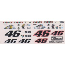 MSM Creation 1:12th Decal set for Tamiya 14104 & 14105 Rossi