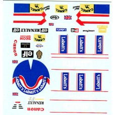 1:20th scale Nigel Mansell helmet and race suit decal - Williams