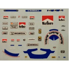 1:43rd scale Prost helmet and race suit decals Mclaren and Ferrari