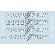 1:12th scale P34 additional waterslide 'Goodyear' decal set by MSM Creation