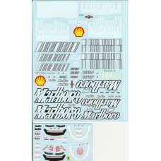 MSM Creation Decal set for the 1:18th Ferrari F2007/2008