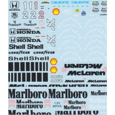 MSM Creation decal set for the Fujimi McLaren MP4/7