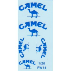 Camel waterslide decal set for the Williams FW14 1:18th