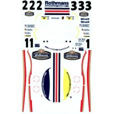 MSM Creation Porsche 956 Rothmans Decals