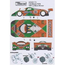 MSM Creation decals for the Mazda 787B