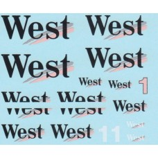 MSM Creation 1:20th 'West' decal sheet for the McLaren MP4/13 Tamiya model