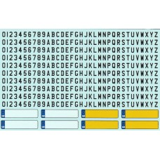 Waterslide decal number plates and letters 1:24th scale