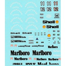 MSM Creation Decal set for the McLaren MP4/4 1:43rd