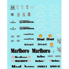 MSM Creation Decal set for the McLaren MP4/6 1:43rd