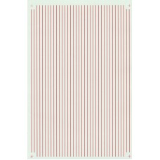 "Microscale Red Stripe Decal Sheet 1/64"" wide"
