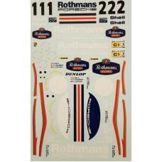 MSM Creation Porsche 962 Rothmans Decals