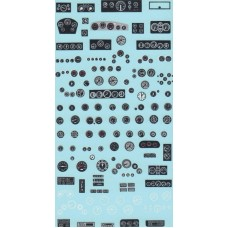 Instrument and Gauges waterslide decal sheet