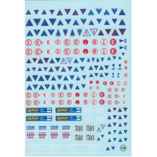 Electrical Warning and Instruction Signs Decal Sheet