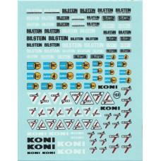 Bilstein and Koni Sponsor Decal Sheet