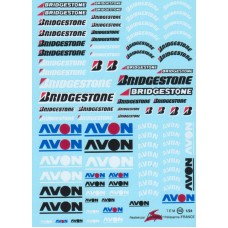 Avon and Bridgestone including side wall decals