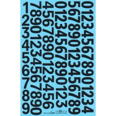Race Number decals - 1:18th/1:24th scale - Black