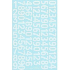 Race Number decals - 1:18th/1:24th scale - White