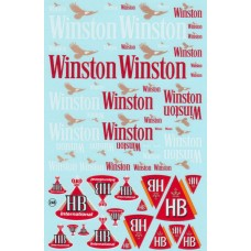 Winston and HB decal sheet