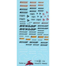 Dunlop Sponsor Decal Sheet including side wall