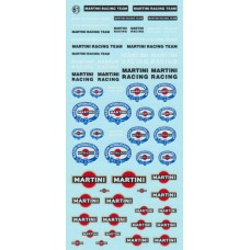 Martini Sponsor Decal Sheet