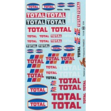 Total (Old Style) Sponsor Decal Sheet