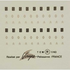 French Decal Sheet (Renault,Citroen,Peugeot)