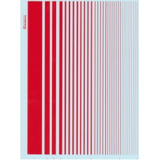 Xtradecal red stripes decal sheet