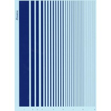 Xtradecal Blue Stripe decal sheet