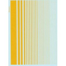 Xtradecal Yellow Stripe decal sheet